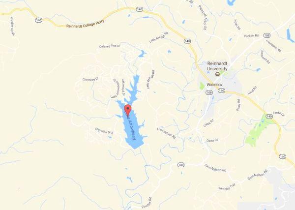 Waleska GA Map Lake Arrowhead Location