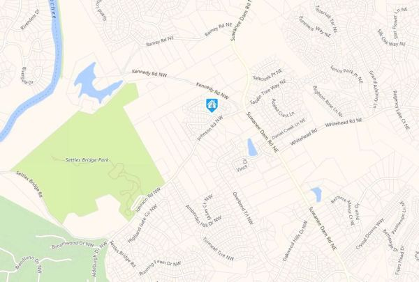 Suwanee GA Map Location Ashleigh Walk Neighborhood