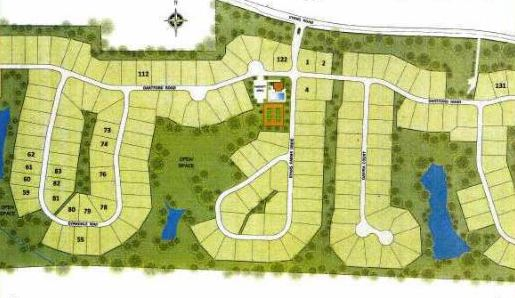 Site Plan For Evans Farm Community