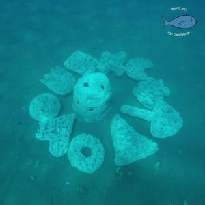 volunteering in bali - artificial reef structure