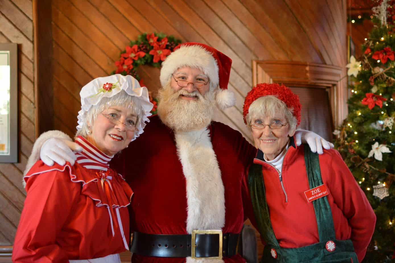 Santa and Helpers for Santa Train