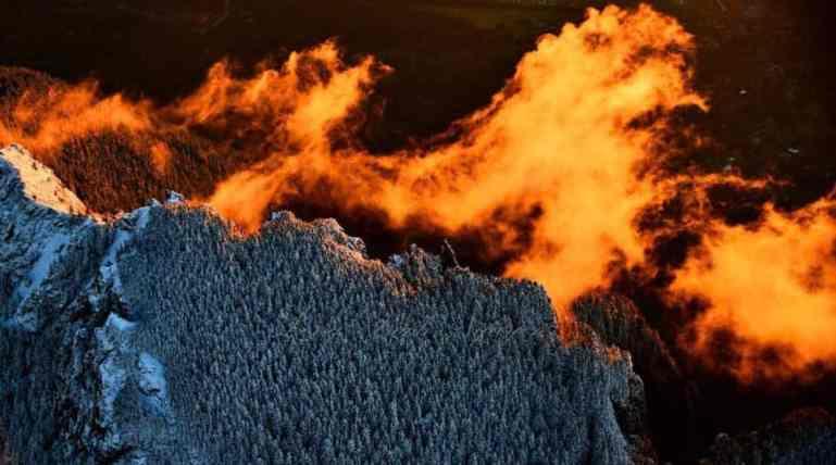 Fiery Sunset on Mount Si