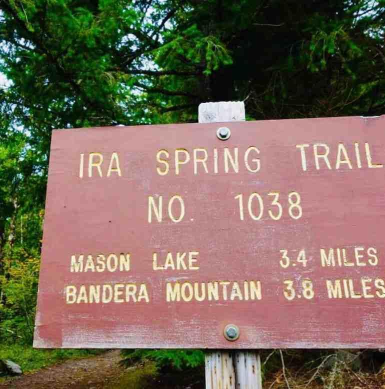 Ira Spring Trailhead going to Mason Lake