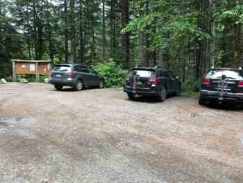 Dingford Creek and Trail Parking Lot