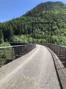 Mine Creek Long Trestle Bridge - 2.4 Miles East of Homestead Trail Junction