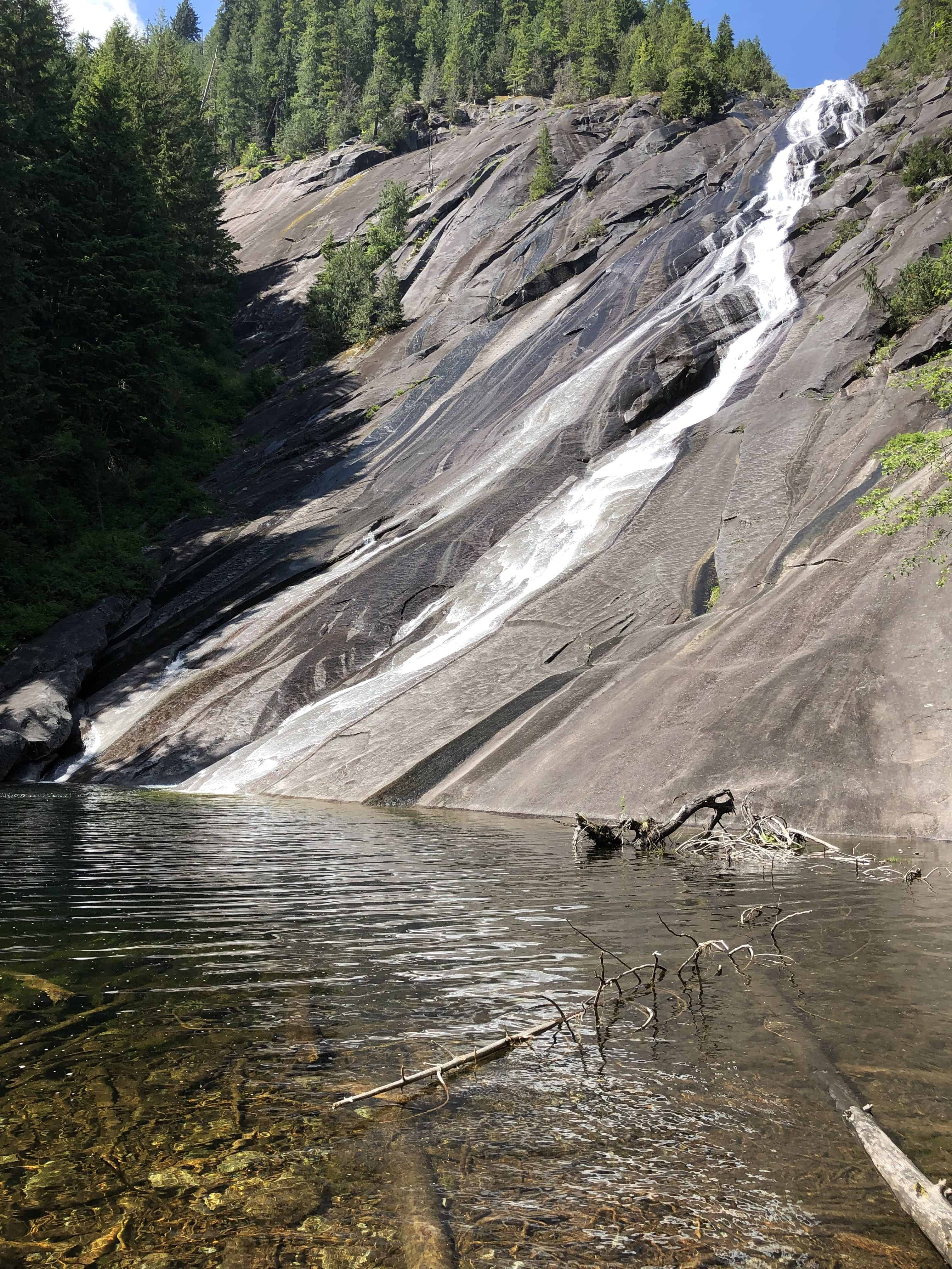 Otter Falls on a beautiful afternoon in early June near Taylor River
