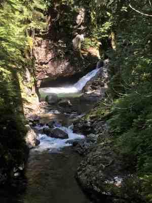 Nice Swimming hole below small falls along river