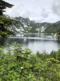 Snow Lake nearing Lake Level