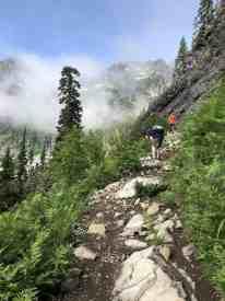 Looking at Chair Peak and Kaleetan Peak