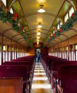 Santa Train Ready to Go from North Bend