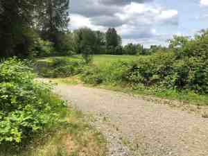 Entrance to Off Leash Dog Park from Snoqualmie Valley Trail