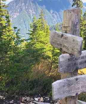 Gem Lake Goldmyer Springs Trail Junction