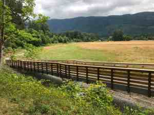 Looking into Tollgate Farm Park from Snoqualmie Valley Trail