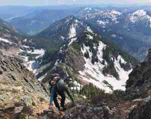 Climbing the last bit to Kaleetan Peak Summit