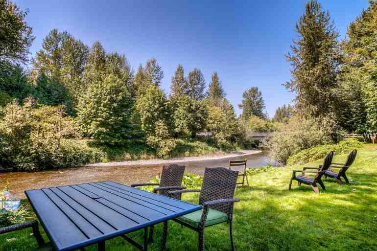 Outdoor Seating by River