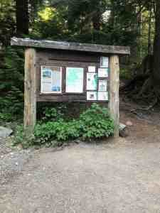 Denny Creek Trailhead Sign