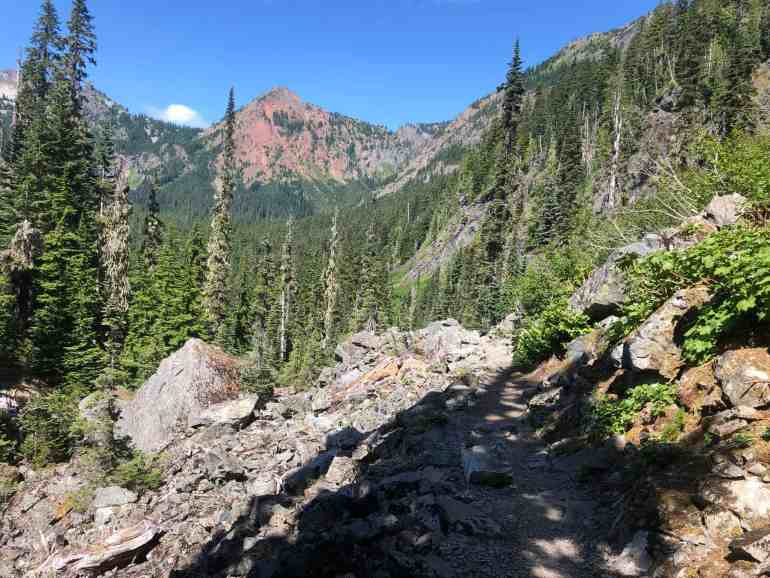 Kendall Katwalk trail near Alpine Lakes Wilderness Entrance