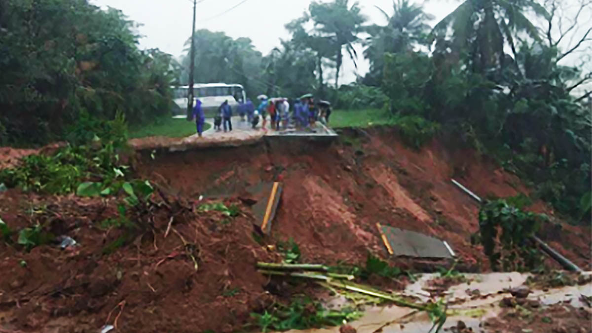 National highway in Cagayan town impassable due to landslide