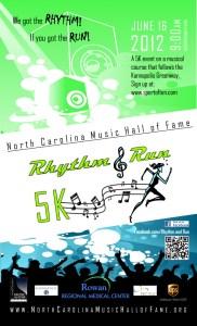 North Carolina Music Hall of Fame 5K RHYTHM & RUN