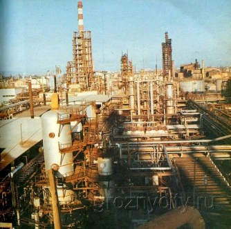 One of the many oil refineries of Grozny (picture from 1970's)