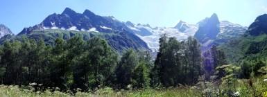 Dombay valley glacier North Caucasus Sochi Olympics 2014