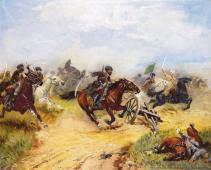Franz Roubaud fight scene Caucasus wars