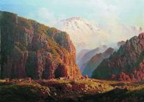 Ilya Zankovsky North Caucasus paintings Dagestan