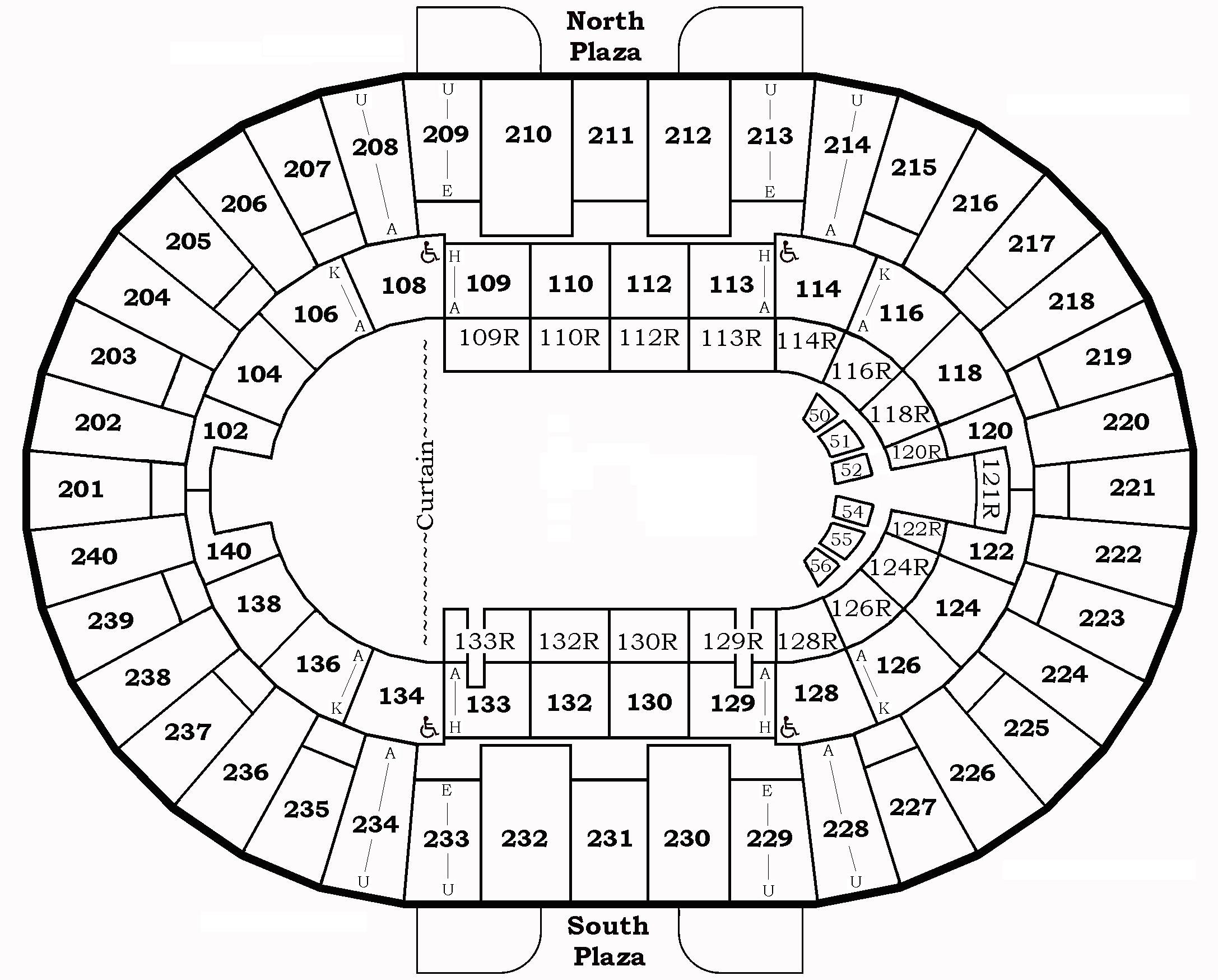 Seating Charts North Charleston Coliseum Amp Performing