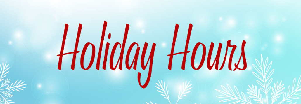 Special Holiday Week Hours