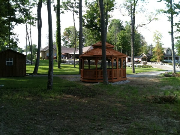Wood Oval Gazebos North Country Sheds