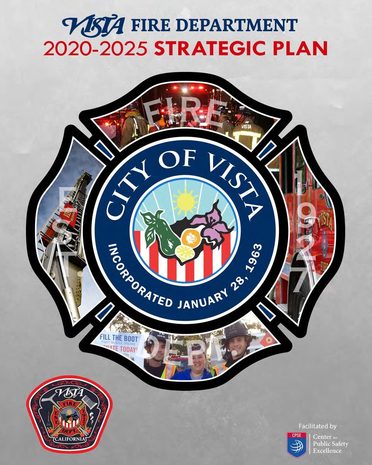Vista Fire Department Updates Five Year Strategic Plan For