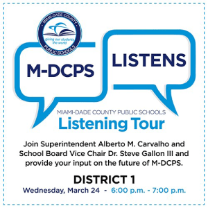 M-DCPS Listening Tour for Our Strategic Blueprint @ Virtual