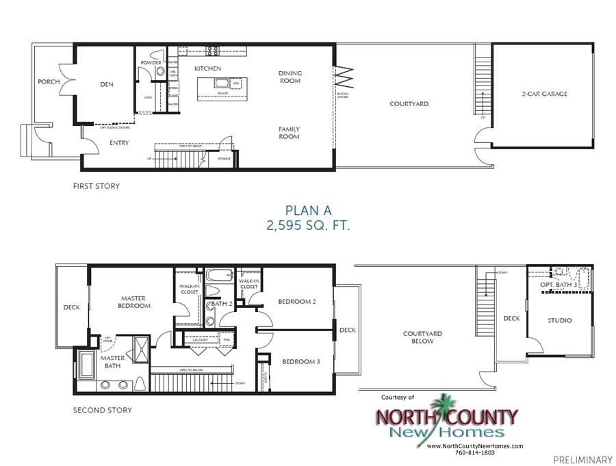 Carmel Row New Townhomes In Carmel Valley..Floorplans