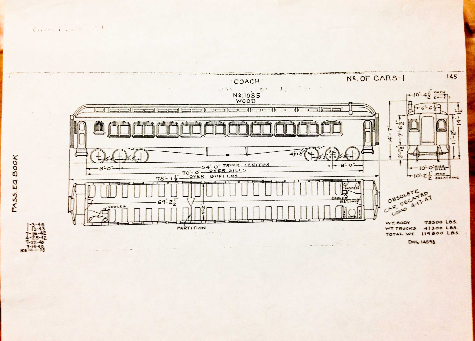 hight resolution of the original layout and design of the wooden rail car
