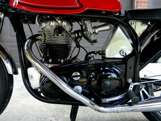 1966 Norton Atlas Cafe L Side Detail