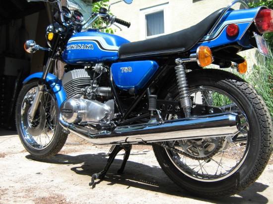 1972 Kawasaki H2 750 L Rear