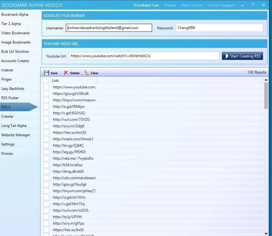 Bookmark Alpha RSS Xtreme Tool