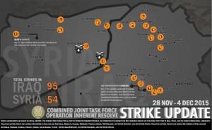 airstirke map Iraq syria