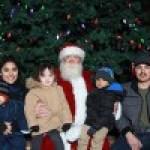 Santa family photo by the Bravo Photo Booth