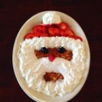 Midwestern Saloon served up festive Santa Pancakes.