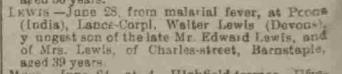 Walter Lewis NDJ 5 7 17 8f died 26 6