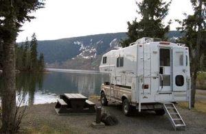 Truck camper boondocking