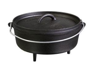 A cast iron Dutch oven