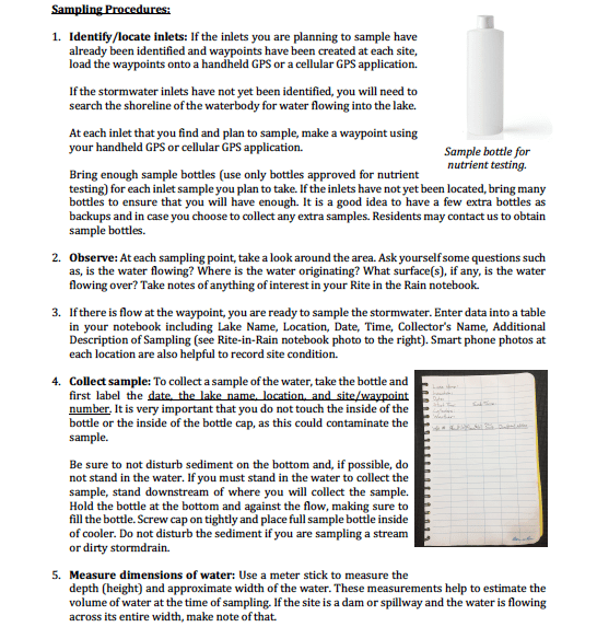 Stormwater sampling guidelines pg 2