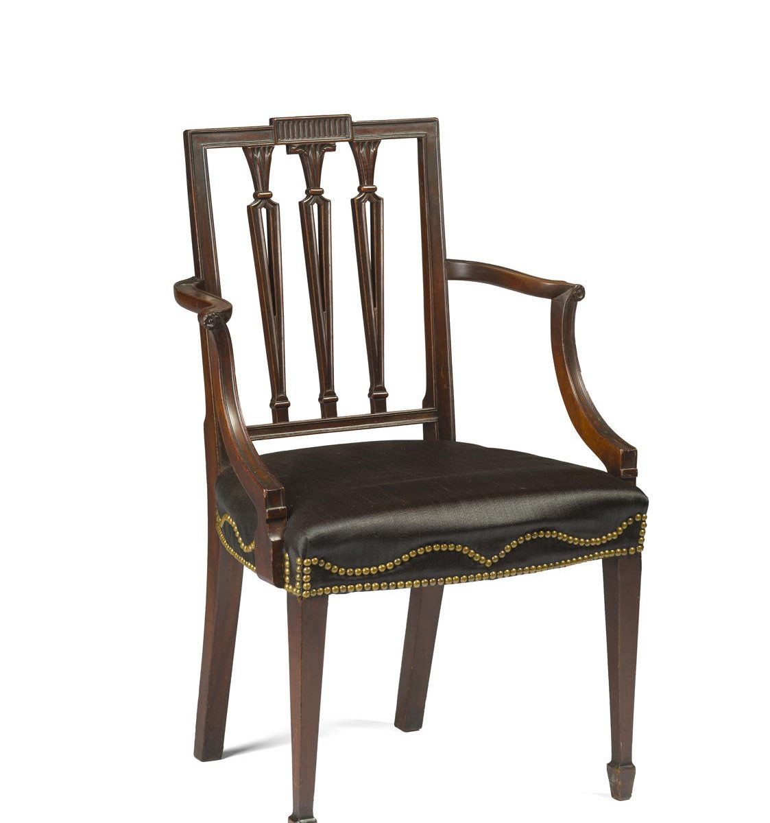 federal dining chairs colorful outdoor set of twelve new york carved mahogany