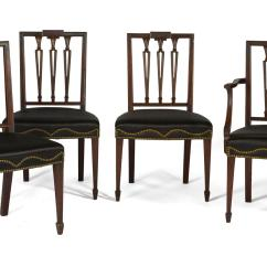 Federal Dining Chairs White Elastic Chair Covers Set Of Twelve New York Carved Mahogany