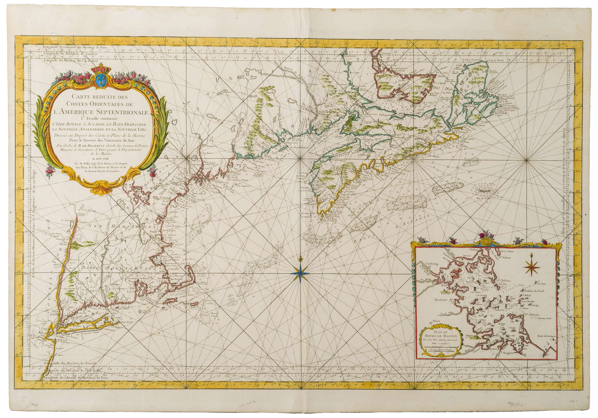ENGRAVED MAP OF THE EAST COAST OF AMERICA, \