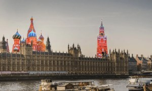 House of Commons and Moscow montage.