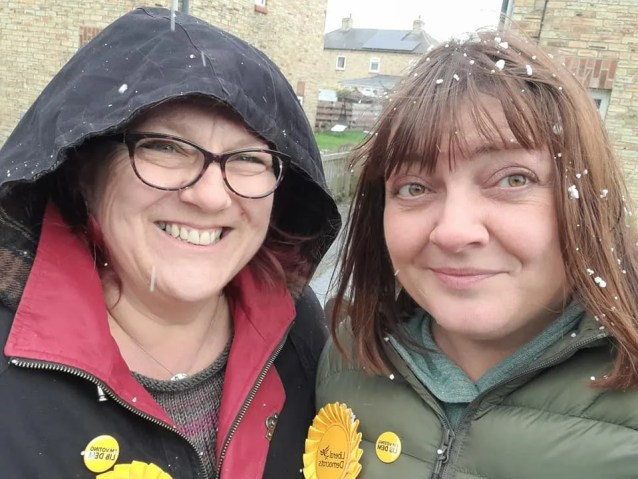 Suzanne Fairless-Aitken and Ginnie O'Farrell, new Liberal Democrat councillors in Hexham Town Council
