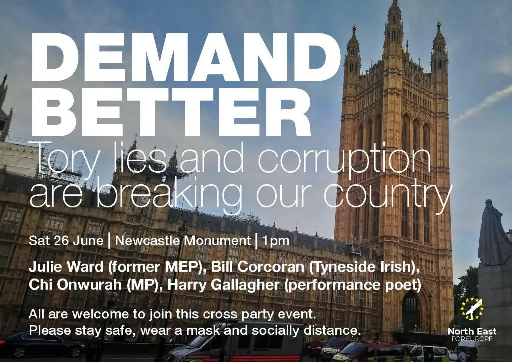 Poster for #WeDEmandBetter event in Newcastle